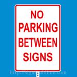 166 No Parking Between Signs