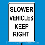 183 Slower Vehicles