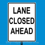 214 Lane Closed Ahead