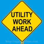 276 Utility Work Ahead