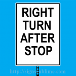 291 Right Turn After Stop