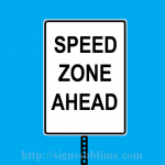 320 Speed Zone Ahead