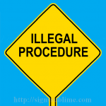 569 Illegal Procedure