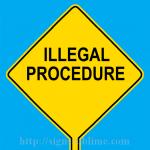 569 Illegal Procedure