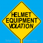 597 Helmet Equipment Violation