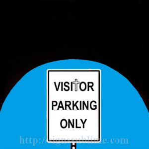 65 Visitor Parking Only